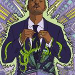 Noel Clarke illustration Nuts magazine