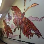 Victoria Park school butterfly mural