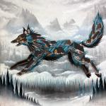 alpine wolf canvas