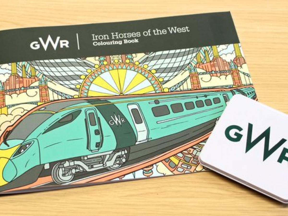 GWR colouring book cover